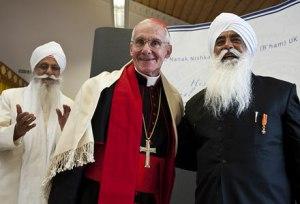 His Eminence, Cardinal Jean-Louis Tauran with Bhai Sahib