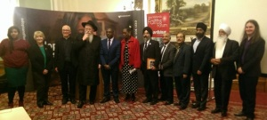 Speakers and distinguished guests at the event