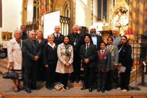 Some of the invited guests at the Vigil (Picture courtesy of St Chad's Cathedral website)