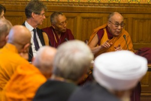 The Dalai Lama speaking at the House of Lords. Photo Ian Cumming