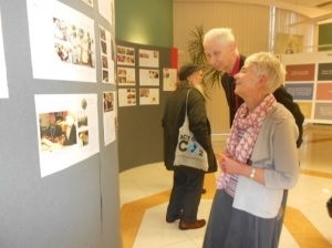 Yann and Ann look at the 24 Spiritual & Moral Dispositions Exhibition
