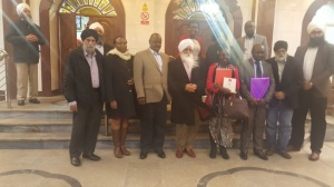 A group photo as the guests depart the Gurudwara