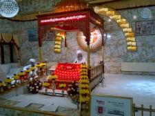 Prayers being recited from Sri Guru Granth Sahib Ji