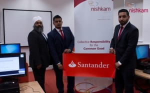 (L-R) Amrick Singh, Ravinder Singh and Harry Singh in the newly refurbished ICT Suite