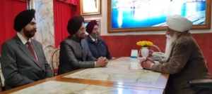 Delegation in dialogue with Bhai Sahib Ji regarding education and the role of educational institutions