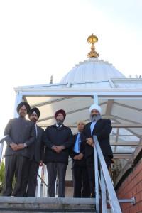 Principal Dr Kavipal Singh, Professor Ramandeep Narang, Dean Dr Ramandeep Bhullar, Baldev Singh, and Amrick Singh