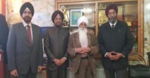 Prof Ramandeep Narang, Principal Dr Kavipal Singh, Bhai Sahib Bhai Mohinder Singh and Dean Dr Ramandeep Singh