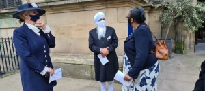 Bhai Sahib Ji met the new WM High Sheriff, Loisue Bennett and Sharon Palmer.